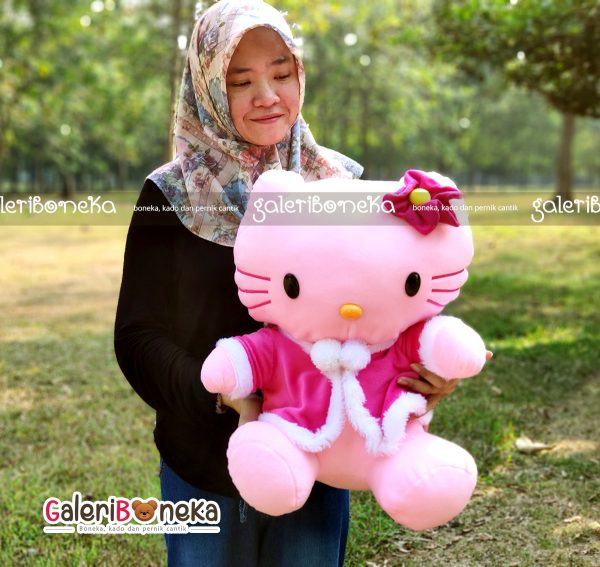 Boneka hello kitty mantel ukuran besar large