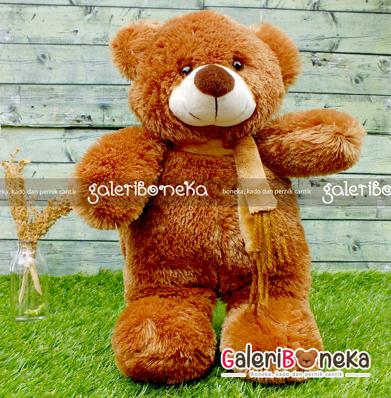 boneka-teddy-bear-syal-dark-brown-1