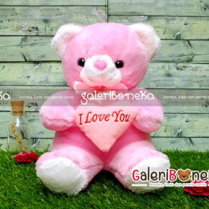 Boneka Teddy Bear Pink Medium