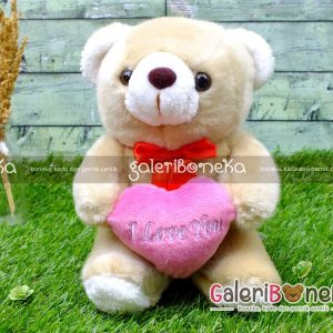 Boneka Teddy Bear Love Coklat Kecil